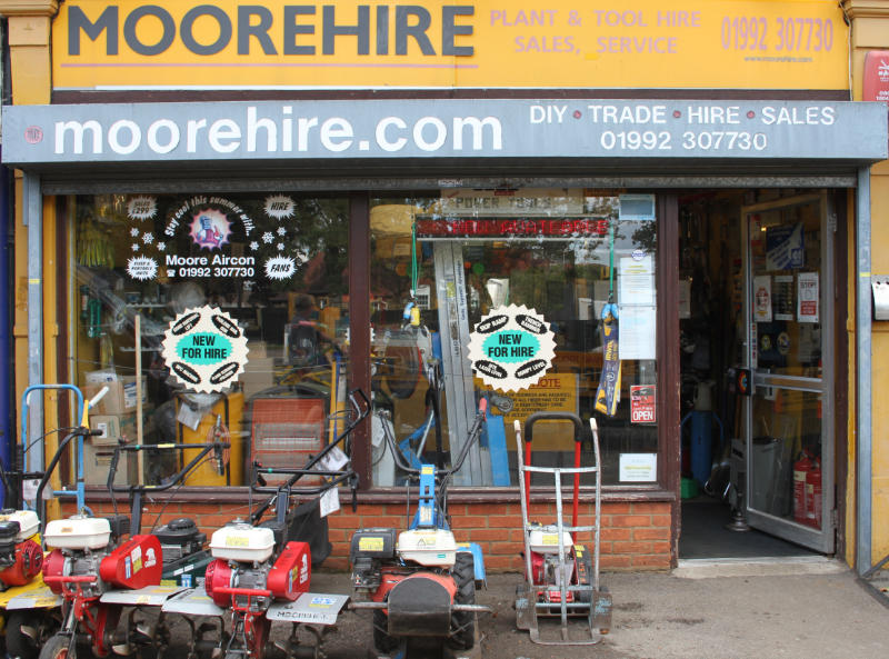 Moorehire tool hire shop in Cheshunt